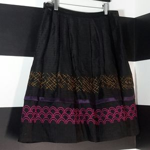 SUNDANCE Embroidered Flared Layered Tulle Skirt 16